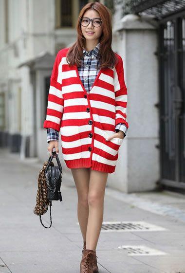 甜美毛衣潮搭 时髦又显高挑